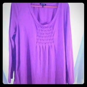 Daisy Fuentes Purple size 1X long sleeve Blouse